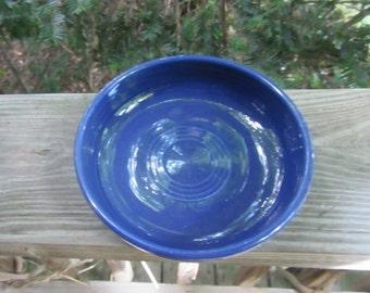 vintage fiesta cobalt blue individual salad bowl, c 1950