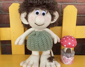 PDF Pattern: Terrick the Troll **Crochet Pattern Only, Not Actual Doll**