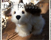 Puppy E-PATTERN, Downloadable PDF, e- Pattern and instructions for fully jointed puppy