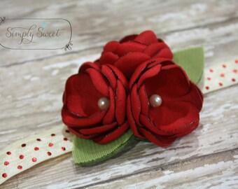Roses are Red - Holiday/Valentine Headband
