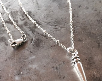 Sterling Spike Necklace