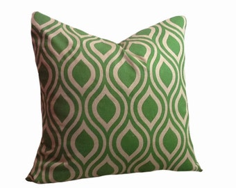 PILLOW and SHAM Cover - Pillow Cover King Queen Euro Reg. 12 16 18 20 24 26  DecorativeThrow Pillow Nicole Organic Green