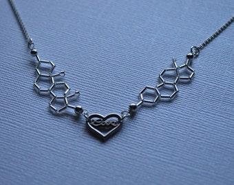 Biolojewelry - Nerd Love Testosterone & Estrogen Molecule Necklace