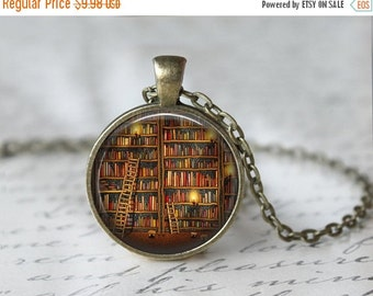 Book Necklace - Book Jewelry - Literary Jewelry - Literary Necklace - Book Pendant - Book Lover Gift - Bibliophile Necklace - Library  X01