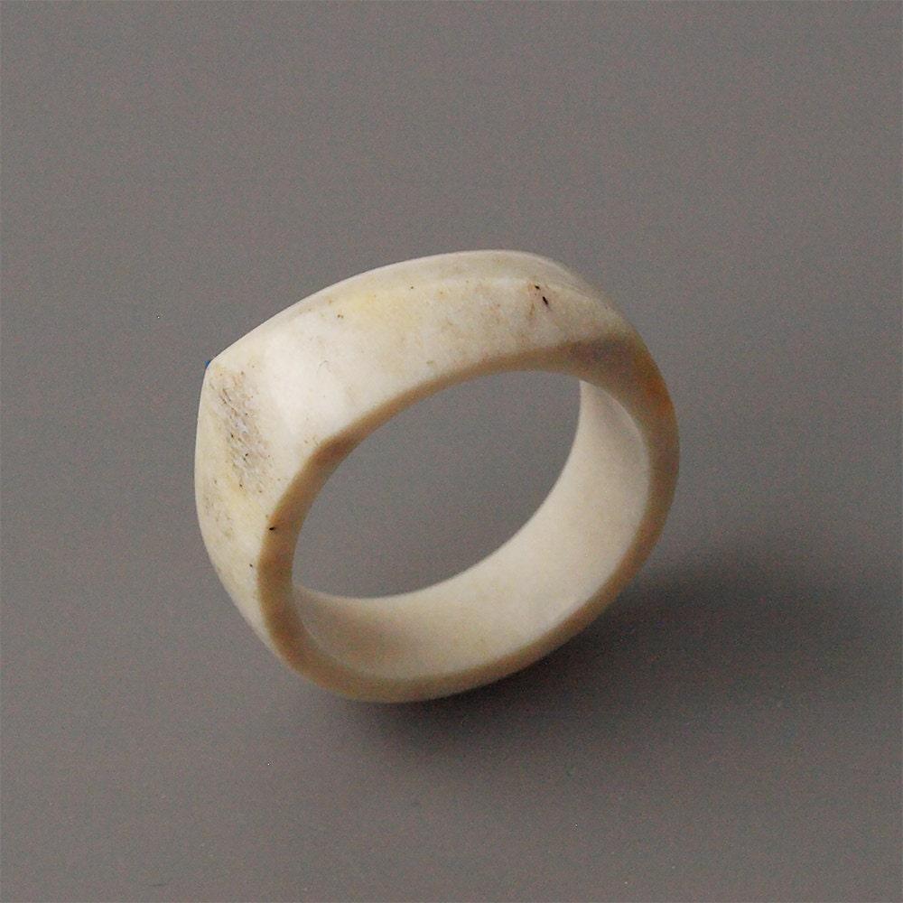 antler ring size 7 us antler rings antler jewelry elk