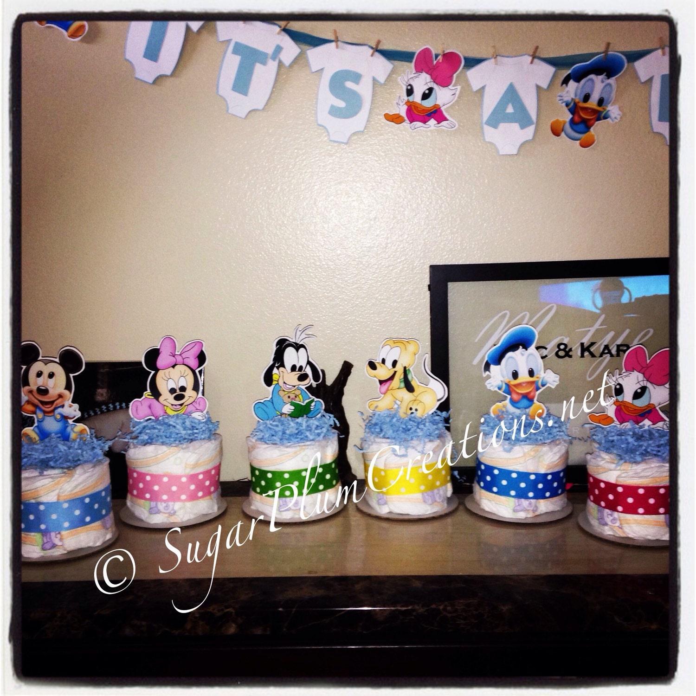 Baby Disney Characters Diaper Cake Mini Baby disney diapercake