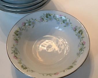 8 Haviland Berry Fruit Bowls / Johann Haviland Bavaria Germany Small Bowls / Vintage Fine China Berry Bowls
