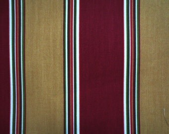 Outdoor Pillow Cover / Cranberry Stripe Pillow Cover / Waterproof Pillow Cover