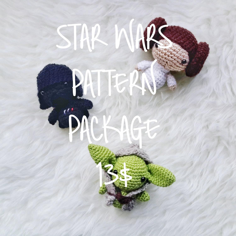 Amigurumi Sushi Pattern Free : Amigurumi Discount Pattern Package Amigurumi Star Wars