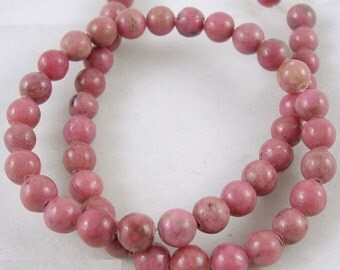 8mm Rhodonite Beads