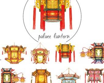 1 Roll of Limited Edition Washi Tape: Chinese Palace Lanterns