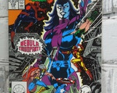 Avengers Comic Book. Nebula Origin Story. Vol 1 Number 318 June 1990. Cool Female Characters. Marvel Comics Group.