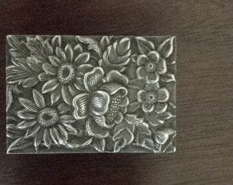 Art Nouveau Sterling Matchbox Cover