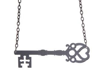 Key necklace - laser cut mirror acrylic