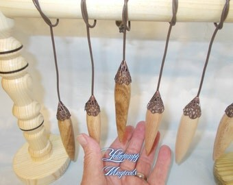 Beautiful and Powerful  handturned Wooden Skrying  Pendulums now available