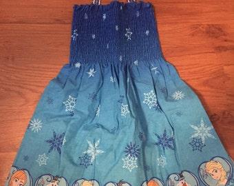 Frozen Handmade Smock Dress~3/4T