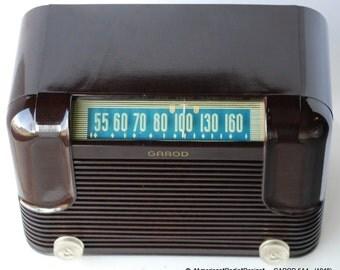 GAROD 5A4 Mid Century Tube Radio Beautiful Radio -  Free Shipping in USA