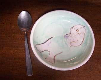 Otter cereal bowl