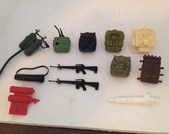 GI JOE lot of 12 misc backpacks and other items