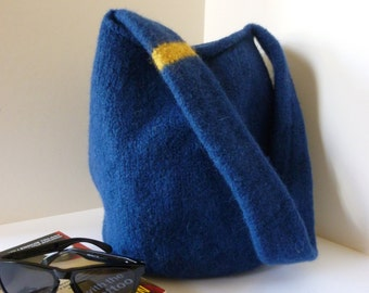Felted wool beach/shopping bag