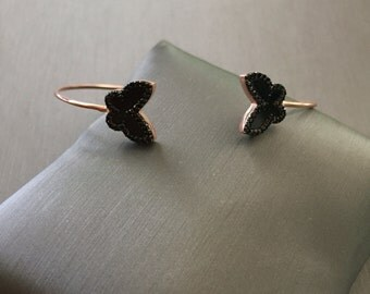 Black Butterfly Bangle