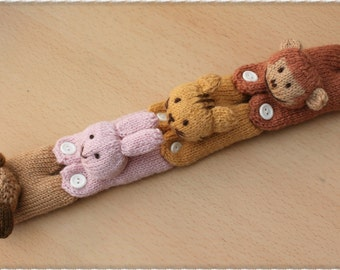 Little Animal Accessories knitting pattern PDF