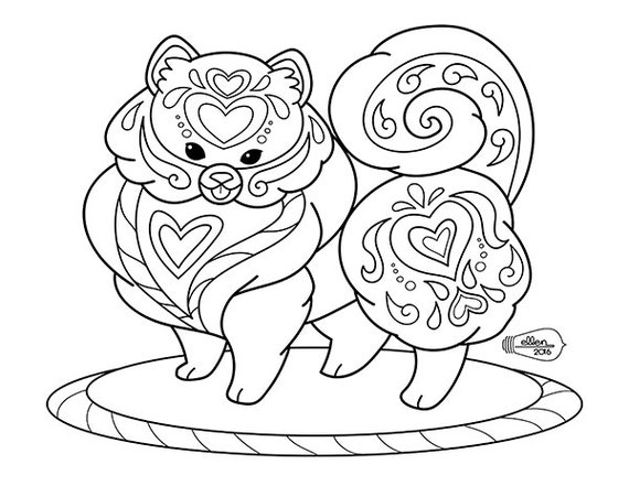 pomeranian coloring pages free - photo#16