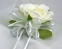 Ivory corsage, Wrist corsage prom, Wrist corsage, Cream corsage, White corsage cream, Wrist corsage and boutonniere, Wrist corsage bracelet,