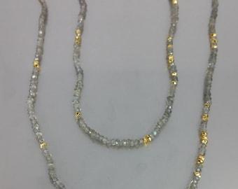 Labradorite/Gold Pyrite Necklace