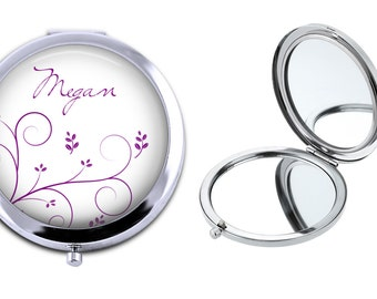 SALE! Compact Mirror - Personalized Gift - Bridesmaid Gift - CL016 - Mother's Day Gift