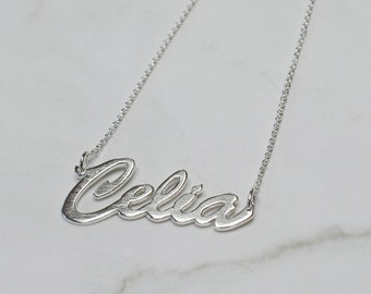 Sterling Silver Handcrafted Name or Word Necklace
