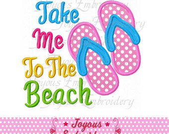 Instant Download Take Me To The Beach Applique Embroidery Design NO:2084