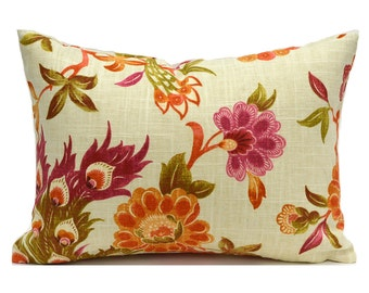 60% CLEARANCE SALE Lumbar Pillow Cover Decorative Pillow Cover Designer Pillow Orange Pillow Richloom Preen