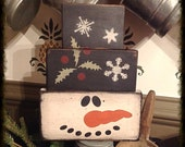 Grubby snowman shelf sitter block set