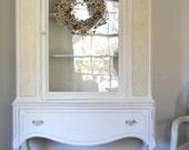 Creamy White Vintage Cabinet