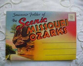Missouri Ozarks Postcard Folder