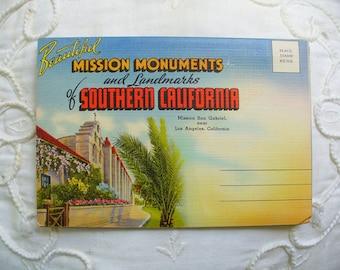 Southern California Postcard Folder