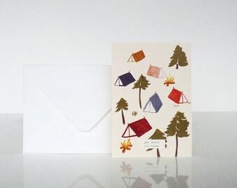 """1 """"Bon voyage"""" Camping card - 1 carte """"Bon voyage"""" Camping"""