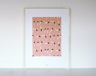 """1 """"Plongeuses"""" print - 1 affiche """"Plongeuses"""""""