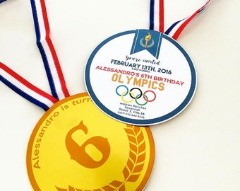 Olympic Games Invitation file - Medal invitation - printable file - PDF