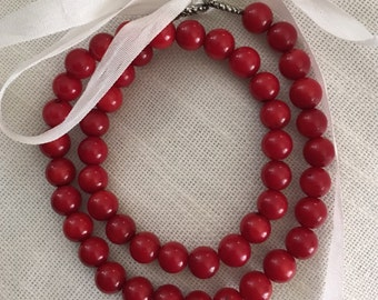18th Century Red Coral Necklace - Georgian & Regency Historical Jewelry