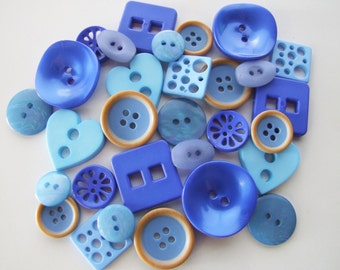 Shades of Blue Button Collection [B0819]