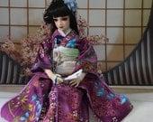 Etsy BJD Kimono historical handmade furisode japanese clothing for BJD 1/3 sd