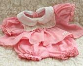Vintage 1980s, Original, Cabbage Patch,Doll Clothes, Pink Dress Set, Coleco, Collectible,