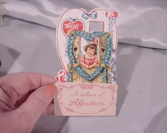 "Vintage Valentine Couple ""Mechanical"" Opens up Made in Germany"