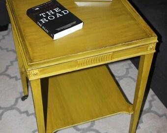 Vintage Mustard Yellow Table