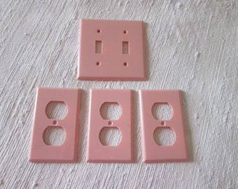 Vintage 4 plates wall switch