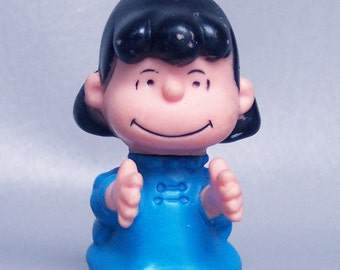 Vintage 1952 Peanuts Lucy Plastic Pencil Topper Toy