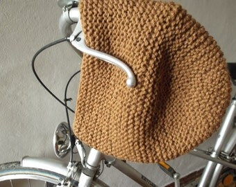 Hand knitted Brown wool hat