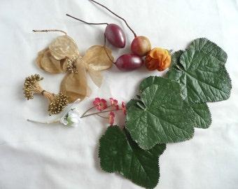 Antique millinery trim - vintage millinery corsage - vintage millinery flowers - millinery supplies - vintage millinery supplies